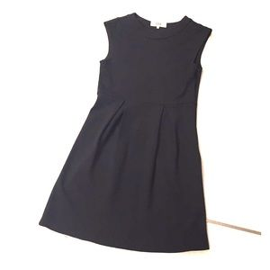 Tibi black dress wool 4